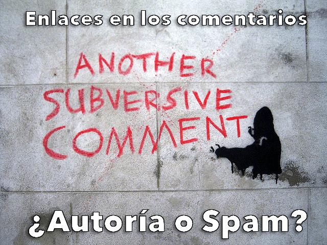 Comentarios con enlace: ¿Autoría o Spam?