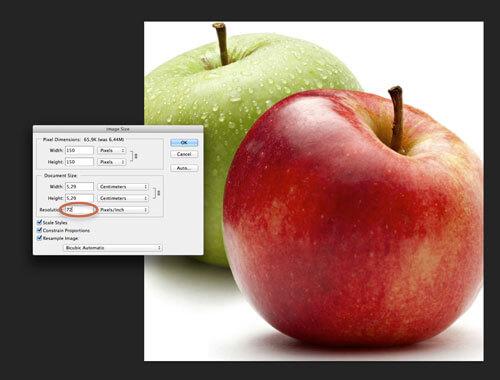 La máxima resolución que vamos a apreciar en un monitor es de 72ppp