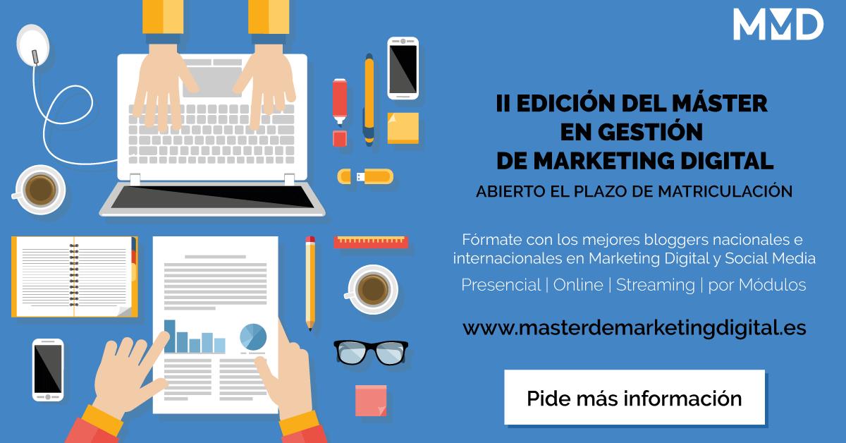 Master en Gestión de Marketing Digital II Edición - Matrícula Gratis - Código PERNAS_WUP
